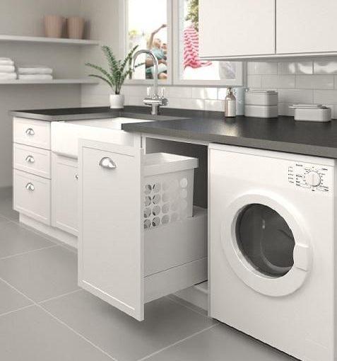 Překáží vám pračka v bytě?  Řešením je praktická prádelna či prací kout…